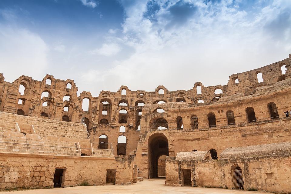 Amfiteatr w El Jem - miejsce gdzie nagrywano Gladiatora